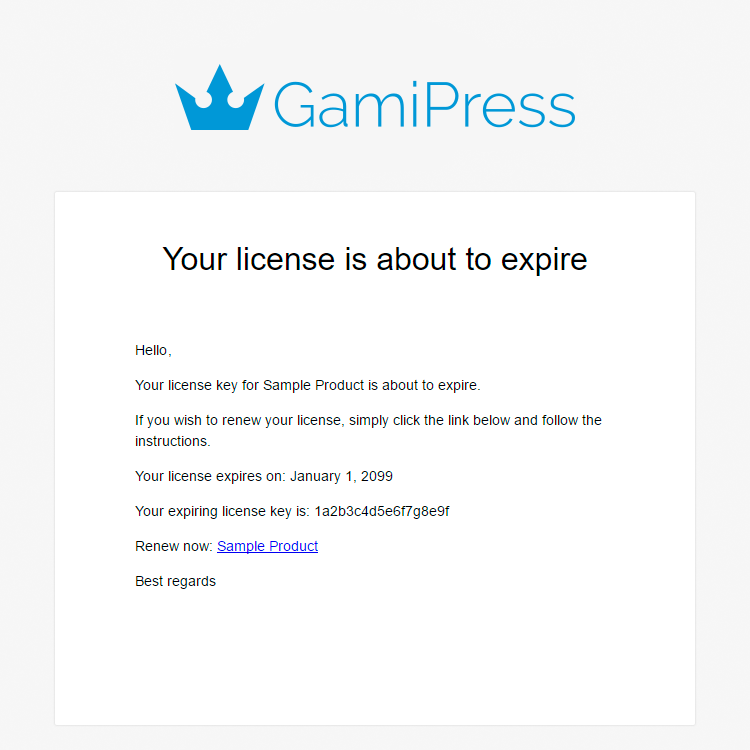 gamipress - renew a license