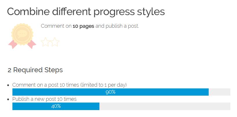 GamiPress - Adding a visual progress