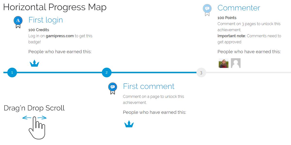 GamiPress - Configuring a progress map