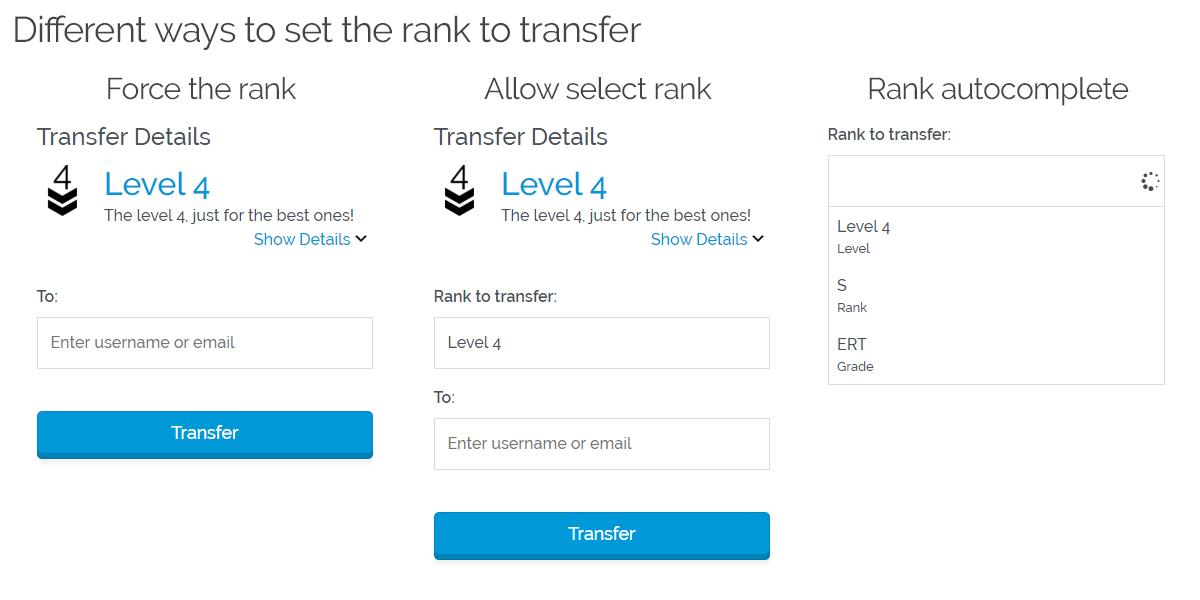GamiPress - Transfers